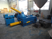 Horizontal automatic scrap metal baler machine