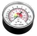 y63 calibrador de presión estándar en el caso del abs o acero negro caso