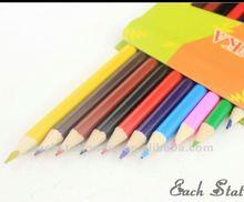 7 polegada long arc - en - bois multi couleur jumbo crayon de couleur en boîte 12 pcs coffret pack