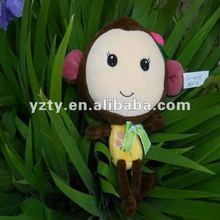 YangZhou Toy factory supply plush money toy &stuffed monkey series