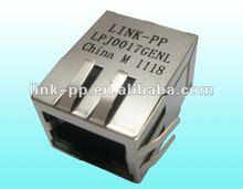5-6605408-1 RJ45 Jack Connector With 10/100 BASE-T Magnetic Module , Modular Jack
