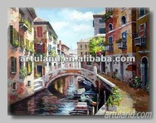 venice building pictures of handmade painting