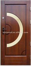 Wood office door with glass GD-029