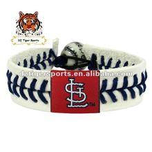 Leather Sports bracelet, Handwork Bracelet-St. Louis Cardinals
