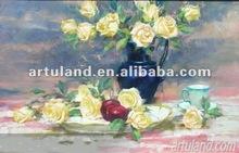 handmade flower paintings on canvas