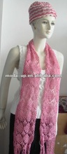 Fashion lady knit hat, scarf sets