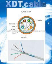 Single shielding Cat6 FTP /PVC LSZH communication cable