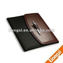 pu portfolia case with regill ball pen