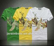 100% cotton mens screen printed t shirts