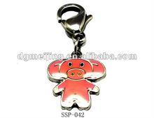2012 DIY Enamel Keychain Stainless Steel Baby Elephant Keychain SSP-042