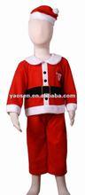 luxury red white plush baby Christmas costume