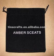 2012 Drawstring black velvet pouch