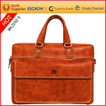 Sell high quality head layer cow leather laptop bag 2012