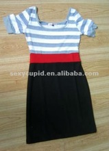 2012 New with Designer cotton lady's casual dress accept paypal R2084