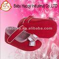 venta caliente de pana rojo suave bowknot zapatos de bebé vestido