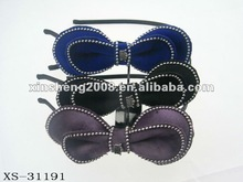 High quality shinning velvet hairband with beautiful pearls