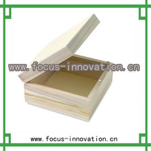 natural wood color small wooden boxes wholesale