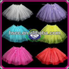 Hotsale mesh material Pink purple color kids tutu skirt