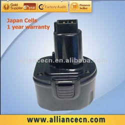 9.6 V/1500mAh Replacement Cordless Drill Battery for DEWALT DW9061