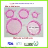 Newest pink good sealing silicone coffee cup lids