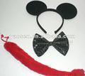 Black orelha headband três- pedaço terno