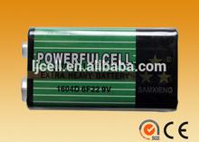 zinc carbon 6F22 9v battery snap