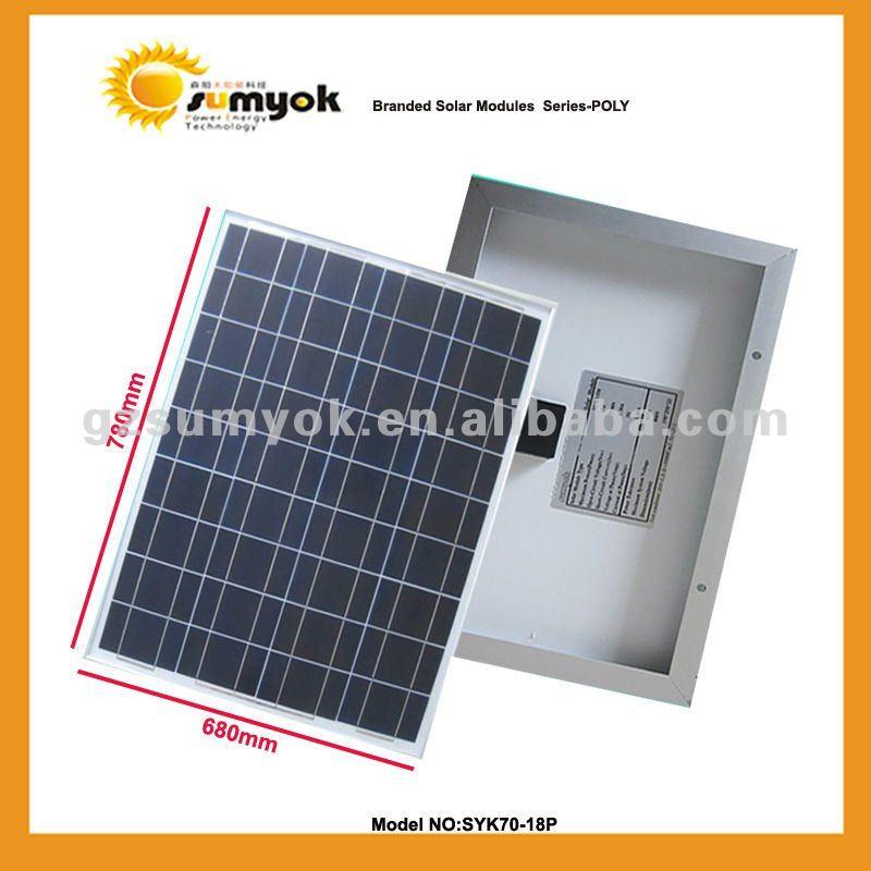 70W High efficiency Polycrystalline Solar Panel