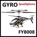 Eliphone fy8008/ipod touch/ipad mando a distancia 3.5ch de metal mini de control deinfrarrojos rc helicóptero con el girocompás