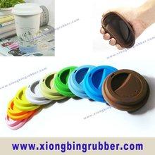 Eco-friendly & FDA standard silicone coffee cup lids