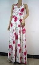 2012 Newest quality cheap Silk Fabric bohemian maxi dress accept Paypal R4009
