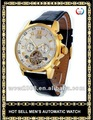 hot vender barato transparente relógio automático
