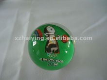 Clear transparent Acrylic soild ball with 2012 London Olympics mascot weight lifting inside
