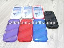 Wave Back TPU Gel Case Cover Skin for Samsung Galaxy S3 S III 3 I9300