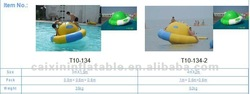 sea water game, water park float Planet , running roller cylinder inflatable teeterboard on sea