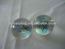 Clear transparent Acrylic soild souvenir ball with 2012 London Olympics mascot inside