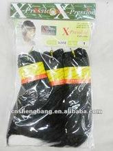 x-pression Sense afro-hair synthetic hair,black short hair x-pression sense