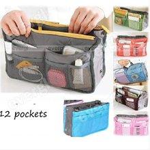 New Handbag Organiser ,Organizer Large, Insert, Travel Bag, 12 Pockets 7 Colours