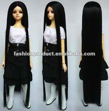 the longest desig black color nice BJD doll hair wigs