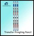 7inch نقل الحرارة الطباعة HB / المطبوعة الوشم باستخدام قلم رصاص نقل مكتب قلم رصاص مع ممحاة قلم رصاص لطباعة العملاء