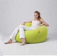 CARY tear drop lime green beanbag sofa, filled beanbag seat furniture