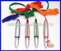 VAA-102 new fashion,new shape,lanyard pen, plastic ballpoint pen