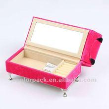 pink sofa jewelry box mirror stand