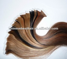 grade AAA hot sale top quality indian remy virgin hair skin weft