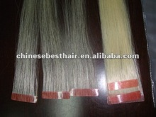 AAA top quality 100%virgin peruvian hair skin weft/hot sale /cheape