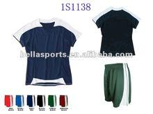 2012 interlock wicking mesh short sleeve wholesale blank football kit