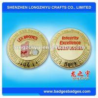metal die cast gold award coins