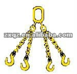 four legs lifting Chain Sling with Oblong link Sling hook