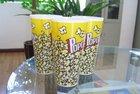 Vivid heat trandfer image for popcom ,strong adhesive,recycle plastic