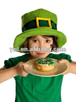 Saint patrick crianças dia cartola/verde top hat/chapéu do feriado