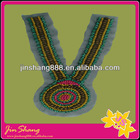 Manufacturers selling Nation style handmade wooden beaded collar applique for garment